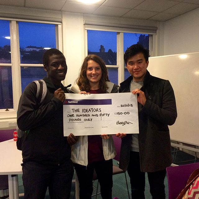 1st place in the Hackathon! #SmarterLiving #Ideators #Designers #GlobalEntrepreneurshipWeek