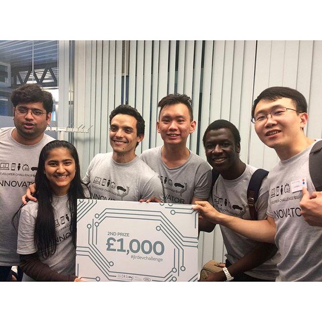 50+ people. 48 hours. 10 teams... #JLRDevChallenge #Hackathon #InternetOfThings #ConnectedCar #Jaguar #Landrover #JaguarLandRover #Teamwork #RunnersUp #2nd #2ndPlace